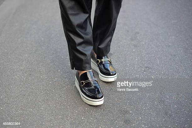Anke Hensel poses wearing Stella McCartney shoes on September 20 2014 in Milan Italy