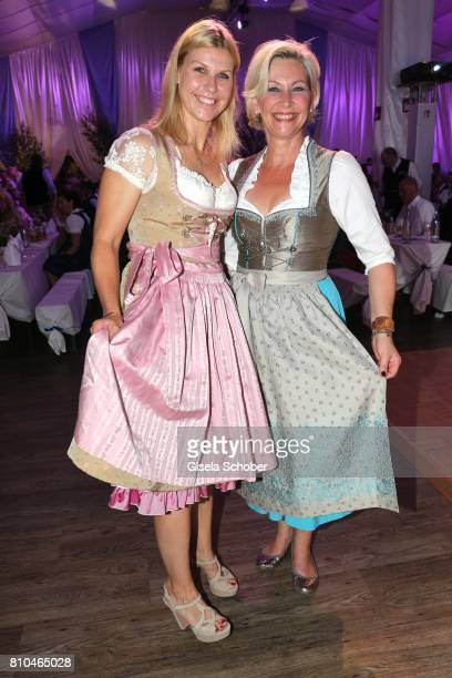 Anke Huber and Claudia Jung during a bavarian evening ahead of the Kaiser Cup 2017 at the Quellness Golf Resort on July 7 2017 in Bad Griesbach near...