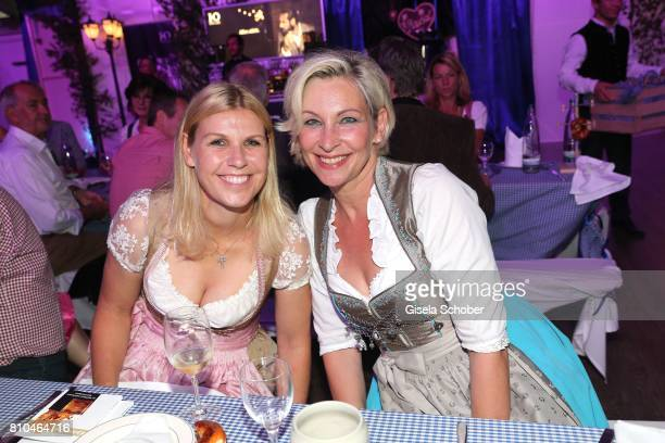 Anke Huber Claudia Jung during a bavarian evening ahead of the Kaiser Cup 2017 at the Quellness Golf Resort on July 7 2017 in Bad Griesbach near...