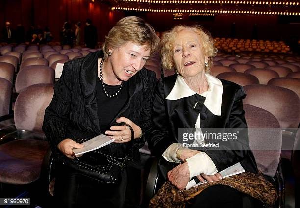 Anke Koch and actress Rosemarie Fendel attend the 'Hesse Movie Award 2009' at the Alte Oper on October 16 2009 in Frankfurt am Main Germany