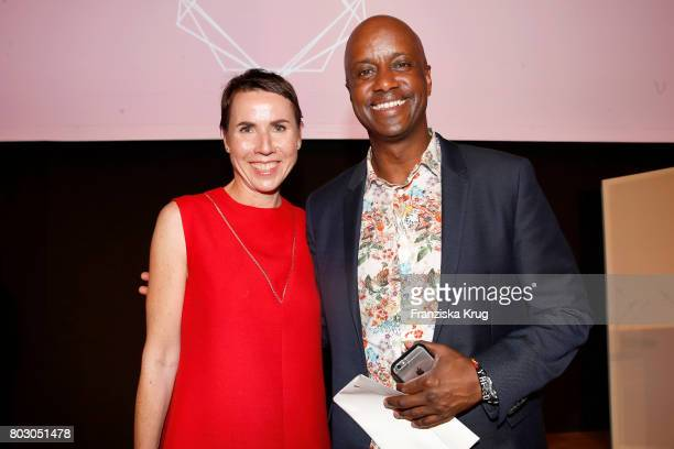 Anke Rippert and Yared Dibaba attend the Emotion Award at Laeiszhalle on June 28, 2017 in Hamburg, Germany.