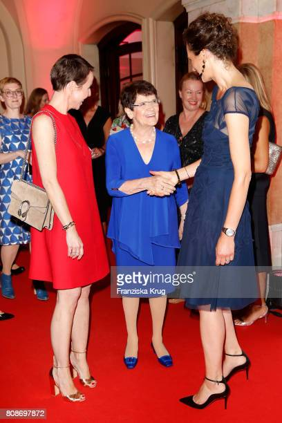 Anke Rippert Rita Suessmut and Katarzyna MolWolf attend the Emotion Award at Laeiszhalle on June 28 2017 in Hamburg Germany