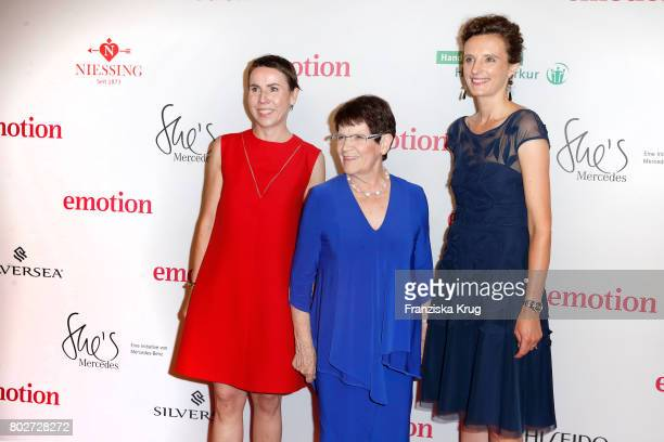 Anke Rippert Rita Suessmuth and Katarzyna MolWolf attend the Emotion Award at Laeiszhalle on June 28 2017 in Hamburg Germany