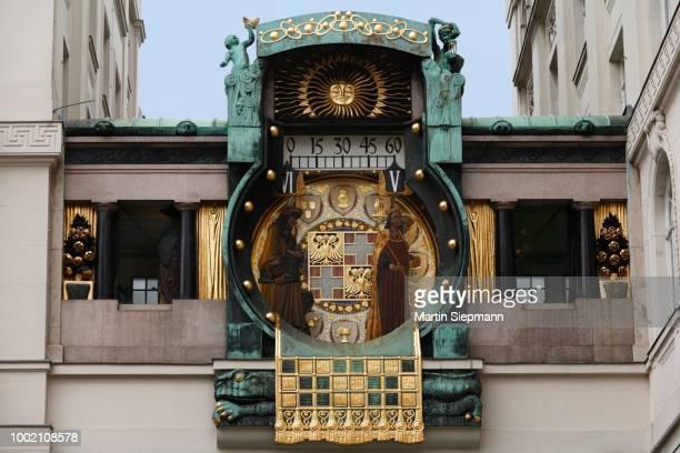 Ankeruhr, Anker clock, art nouveau clock, Hoher Markt, Vienna, Austria
