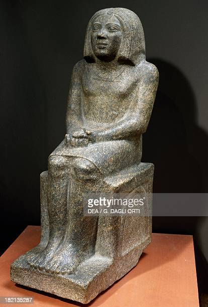 Ankh priest of Horus granite statue height 625 cm Egyptian Civilisation Old Kingdom Dynasty III Paris Musée Du Louvre