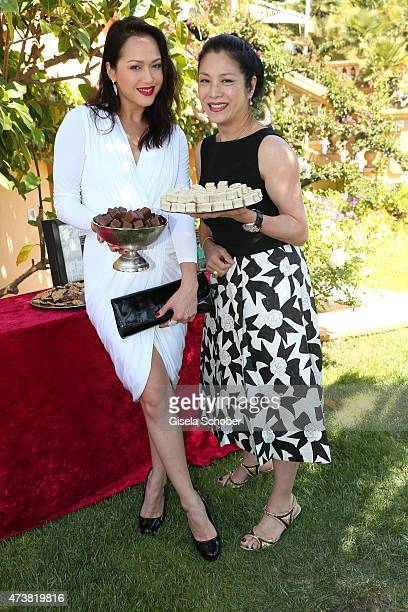 Ankie Beilke and her mother Ankie Lau during the Hollywood Domino event at Villa Saint Georges on May 17 2015 in Cannes City
