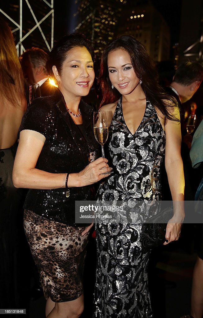 Ankie Lau and Ankie Beilke attend Mandarin Oriental Hong Kong's 50th Anniversary Gala on October 17, 2013 in Hong Kong.