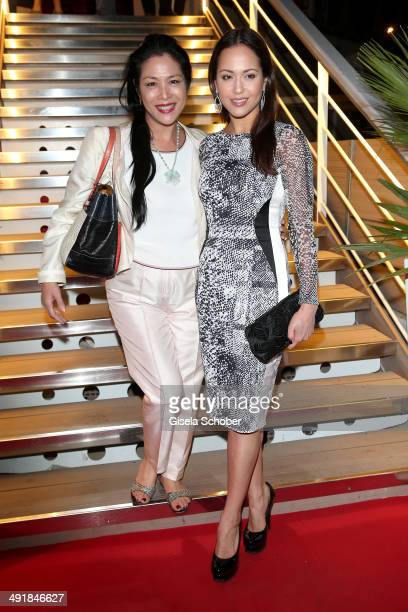 Ankie Lau and Ankie Beilke attend the German reception during the 67th Annual Cannes Film Festival on May 17 2014 in Cannes France