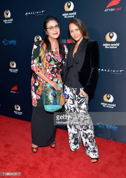 Ankie Lau and Ankie Bielke attend the opening night premiere of Just Mercy at ArcLight Culver City on November 06 2019 in Culver City California