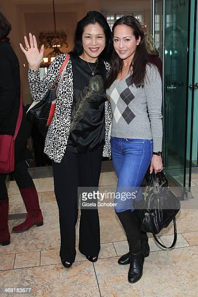 Ankie Lau and her daughter Ankie Beilke attend the FilmFernsehFonds Bayern reception at Bayerische Landesvertretung on February 13 2014 in Berlin...