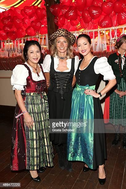 Ankie Lau and her daughter Ankie Beilke Nathalie Weidenfeld attend the Regines Sixt Damen Wiesn during the Oktoberfest 2015 on September 21 2015 in...