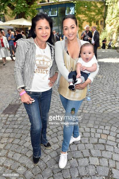 Ankie Lau Ankie Beilke and son Sebastian attend the FFF reception during the Munich Film Festival 2017 at Praterinsel on June 29 2017 in Munich...