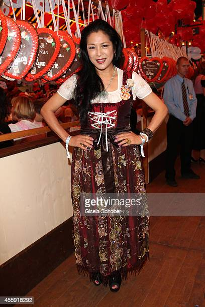 Ankie Lau attends the 'Sixt Damen Wiesn' at Marstall tent during Oktoberfest at Theresienwiese on September 22 2014 in Munich Germany