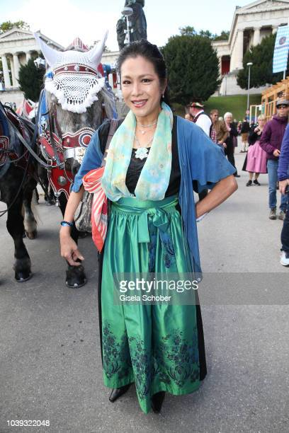 Ankie Lau during the 'Sixt Damen Wiesn' as part of the Oktoberfest 2018 at Schuetzenfestzelt at Theresienwiese on September 24 2018 in Munich Germany
