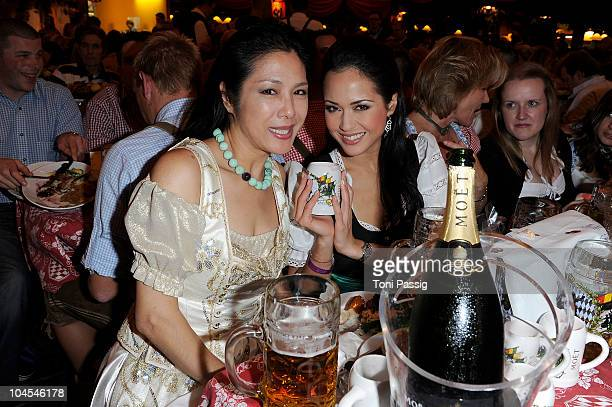 Ankie Lau Heungping and daughter Ankie Beilke attend the Bunte Wiesn at Hippodrom during the Oktoberfest 2010 at Theresienwiese on September 29 2010...