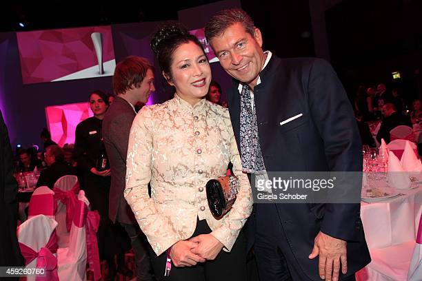 Ankie Lau Thomas Jirgens during the Video Entertainment Award 2014 on November 19 2014 at Hotel Westin Grand in Munich Germany