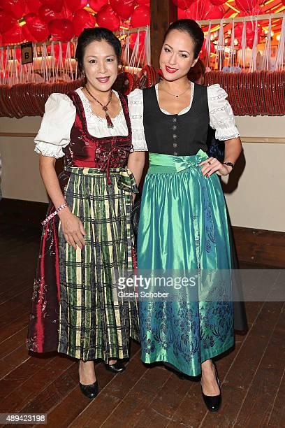 Ankie Lau und Ankie Beilke attend the Regines Sixt Damen Wiesn during the Oktoberfest 2015 on September 21 2015 in Munich Germany