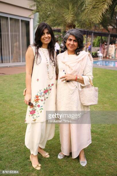 Ankita and Designer Anjana Bhargava during the Hightea afternoon helmed by NGO Savera to raise funds for healthcare child education and vocational...
