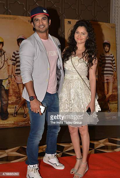 Ankita Lokhande and Sushant Singh Rajput at the success party of the movie PK in Mumbai