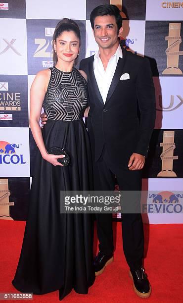 Ankita Lokhande and Sushant Singh Rajput at Zee Cine Awards 2016 in Mumbai