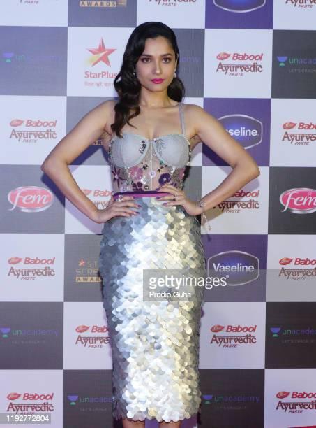 Ankita Lokhande attends the Star Screen Awards 2019 at Filmcity on December 082019 in Mumbai India