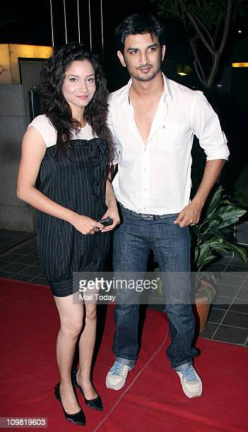 Ankita Lokhande with Sushant Rajput during the'Saturday Clubbing Nights' Launches at Zerza Restobar The Tunga by Regale – In Association with Rich...