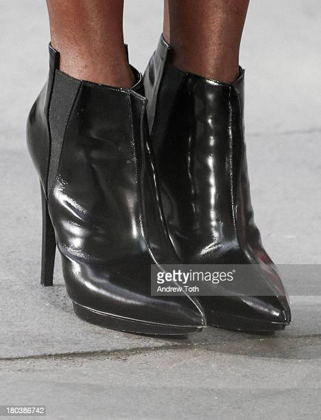 Ankle boots worn by Naomi Campbell takes part in the 'The Face' Season 2 Pop Up Fashion Show at Bryant Park on September 11 2013 in New York City