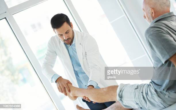 Ankle examination.