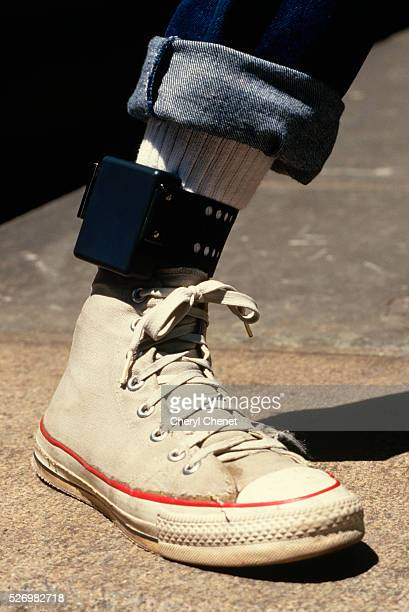 Ankle Monitor Worn by Parolee