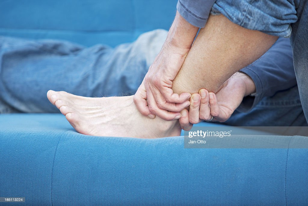 Ankle pain : Stock Photo