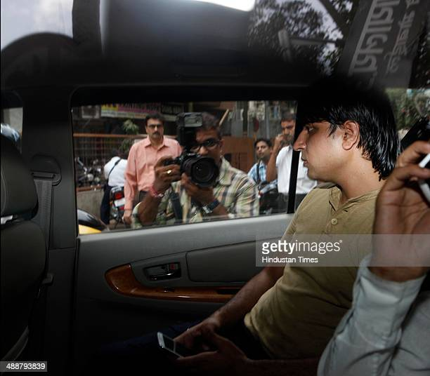 Ankur Tiwari brother of singer Ankit Tiwari after he got bail for allegedly rape outside Andheri court on May 8 2014 in Mumbai India Ankit Tiwari of...