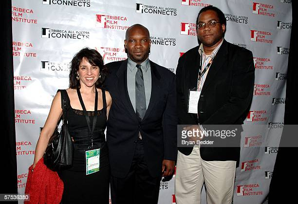 Ann Adams, Gordon T. Skinner and Jimmy Briggs attend the TAA Closing Night Party during the 5th Annual Tribeca Film Festival May 4, 2006 in New York...