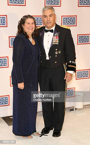Ann and General John F Campbell attend the 2013 USO Gala at Washington Hilton on October 25 2013 in Washington DC