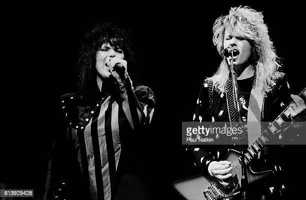 Ann and Nancy Wilson of Heart performing at the Holiday Star Theater in Merrillville, Indiana, February 7, 1984.