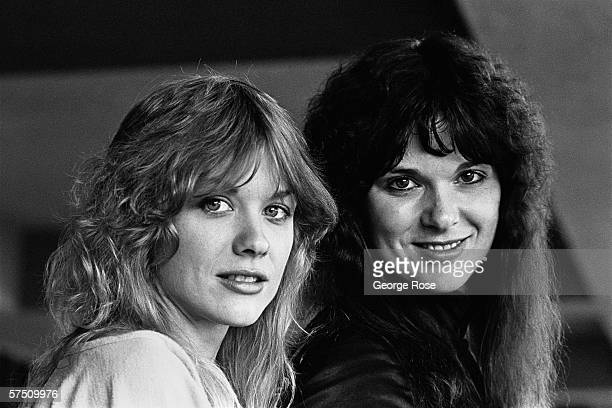 Ann and Nancy Wilson , the creative force of the Seattle-based rock group Heart, pose during a 1978 Los Angeles, California portrait session.