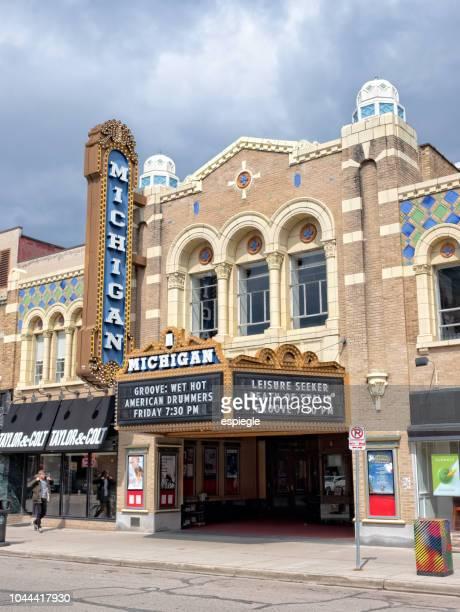 アン ・ アーバー ミシガン州の劇場 - アナーバー ストックフォトと画像