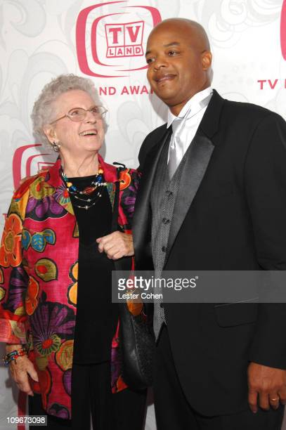 Ann B Davis and Todd Bridges during 5th Annual TV Land Awards Red Carpet at Barker Hangar in Santa Monica California United States