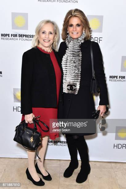 Ann Barish and Grace Meigher attend Hope for Depression Research Foundation's 11th Annual Luncheon Honoring Ashley Judd at The Plaza Hotel on...