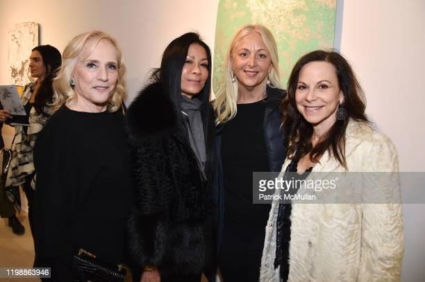 Ann Barish, Helen Lee Schifter, Dana Hammond Stubgen and Bettina Zilkha attend the Nick Moss: STEEL SHAPES Opening at Leila Heller Gallery on January...