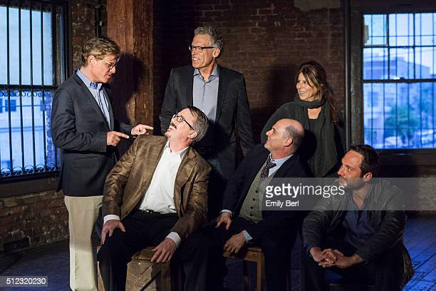 Ann Biderman Carlton Cuse Vince Gilligan Nic Pizzolatto Aaron Sorkin and Matthew Weiner are photographed behind the scenes of The Hollywood Reporter...