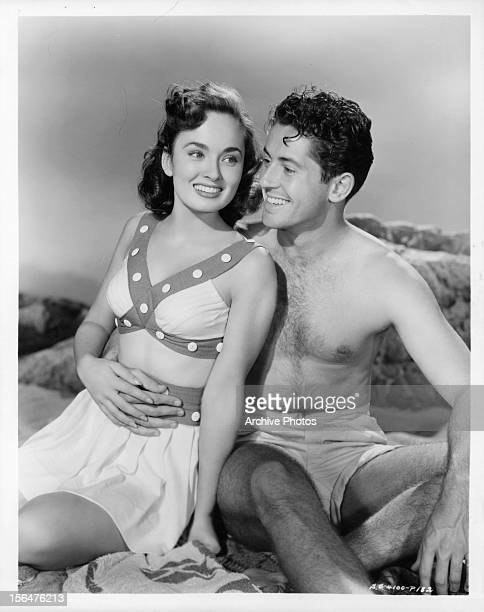 Ann Blyth and Farley Granger publicity portrait for the film 'Our Very Own' 1950