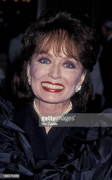 Ann Blyth attends 44th Annual American Cinema Editors Awards on March 12 1994 at the Beverly Wilshire Hotel in Beverly Hills California