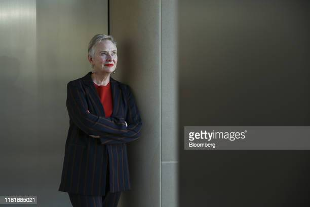 Ann Cairns vice chairman of Mastercard Inc poses for a photograph a Bloomberg Television interview in London UK on Tuesday Nov 12 2019 Mastercard...