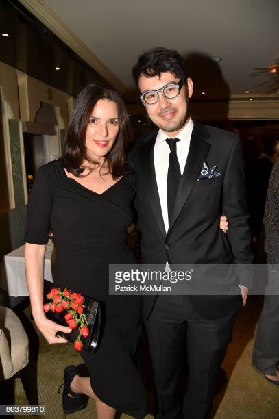 Ann Caruso and Charles Youssef attend the launch of Second Bloom Cathy Graham's Art of the Table hosted by Joanna Coles and Clinton Smith at Bergdorf...