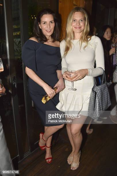 Ann Caruso and Jasmine Loeb attend the VieVite x Zac Posen LimitedEdition Bottle Launch at Salon de Ning at The Penisula on May 15 2018 in New York...