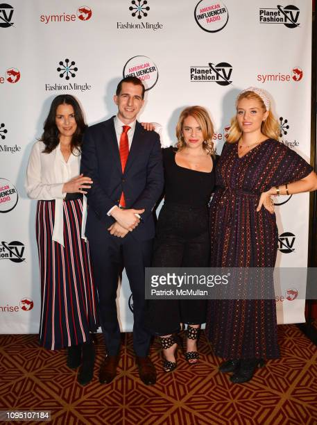 Ann Caruso David Melnik Renee Willett and Daphne Oz attend American Influencer Association Launch Party Featuring Daphne Oz at The Doubles Club on...