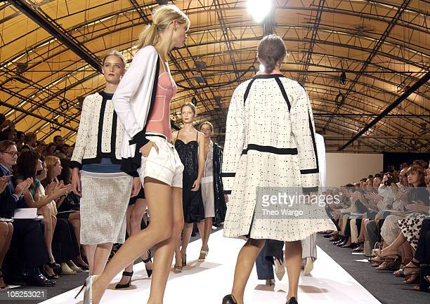 Ann Catherine Lacroix Julia Stegner and models wearing Proenza Schouler Spring 2004
