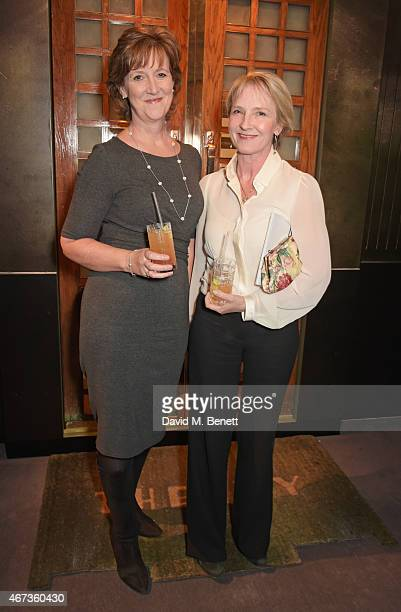 Ann Chalmers, Child Bereavement UK CEO, and Julia Samuel , Child Bereavement UK Founder Patron attend Sotheby's to preview iconic items from The Ivy...