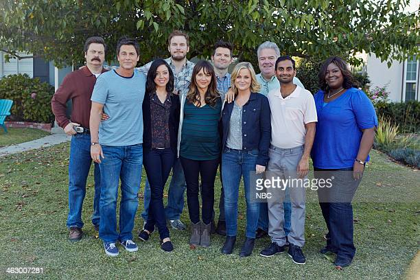 RECREATION Ann Chris Episode 613 Pictured Nick Offerman as Ron Swanson Rob Lowe as Chris Traeger Aubrey Plaza as April Ludgate Chris Pratt as Andy...