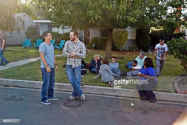 RECREATION Ann Chris Episode 613 Pictured Rob Lowe as Chris Traeger Chris Pratt as Andy Dwyer Amy Poehler as Leslie Knope Rashida Jones as Ann...